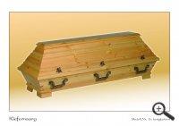 Kiefernsarg - Modell Nr. 1b, honigfarbend